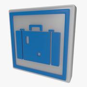 Resväska symbol en 3d model