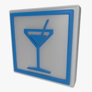 Cocktail symbol en 3d model