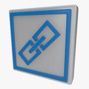 Kedjesymbol en 3d model
