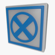 Warning symbol two 3d model