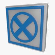 Varningssymbol två 3d model