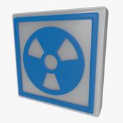 Varningssymbol ett 3d model