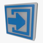 Símbolo de saída um 3d model
