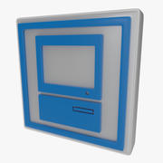 Symbol komputera jeden 3d model