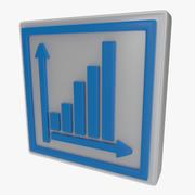 Símbolo de gráfico dos modelo 3d