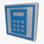 Kalkulator symbol jeden 3d model