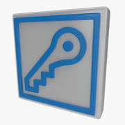 Kluczowy symbol jeden 3d model