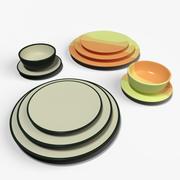Обеденный набор блюд 3d model