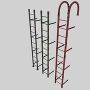 生锈的梯子 3d model
