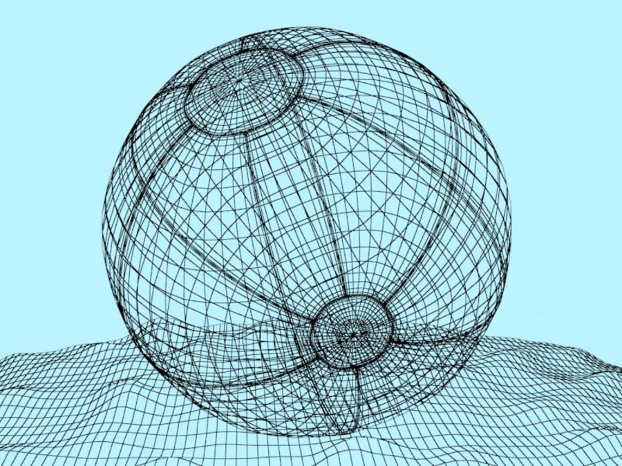 Beachball royalty-free 3d model - Preview no. 5