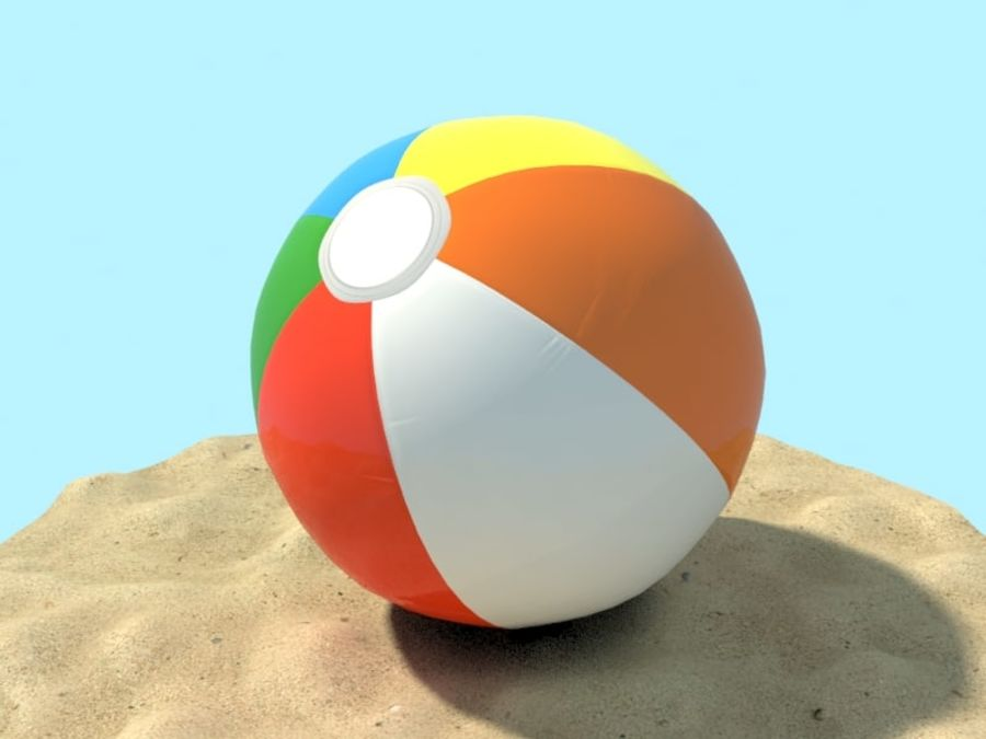 Beachball royalty-free 3d model - Preview no. 1