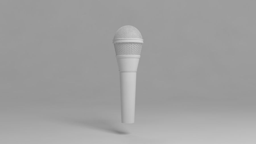 Micrófono royalty-free modelo 3d - Preview no. 3