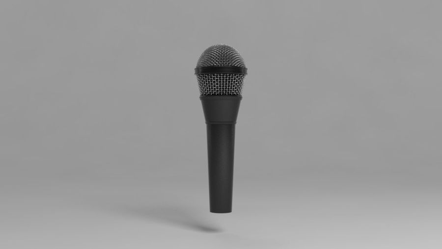 Mic royalty-free 3d model - Preview no. 2