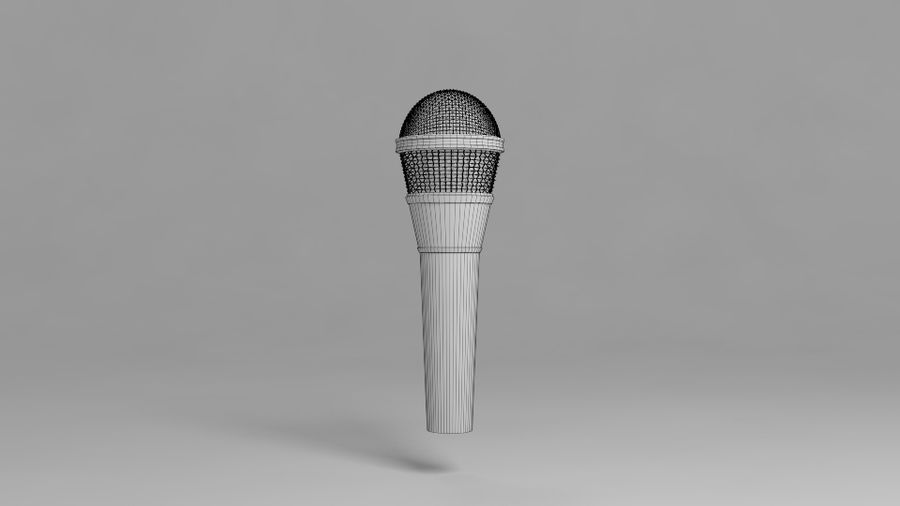 Micrófono royalty-free modelo 3d - Preview no. 4