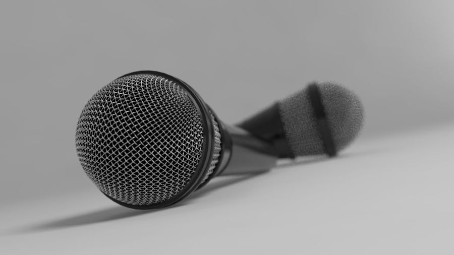 Mic royalty-free 3d model - Preview no. 1