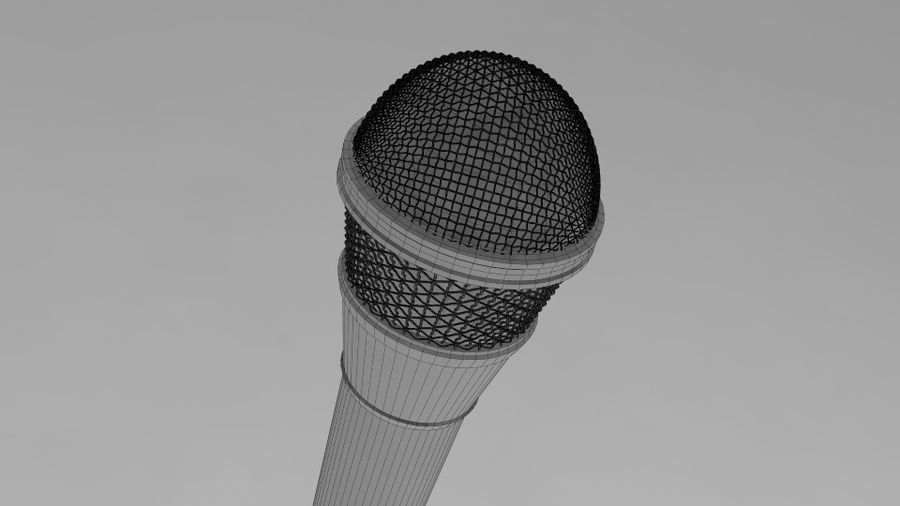 Mic royalty-free 3d model - Preview no. 7