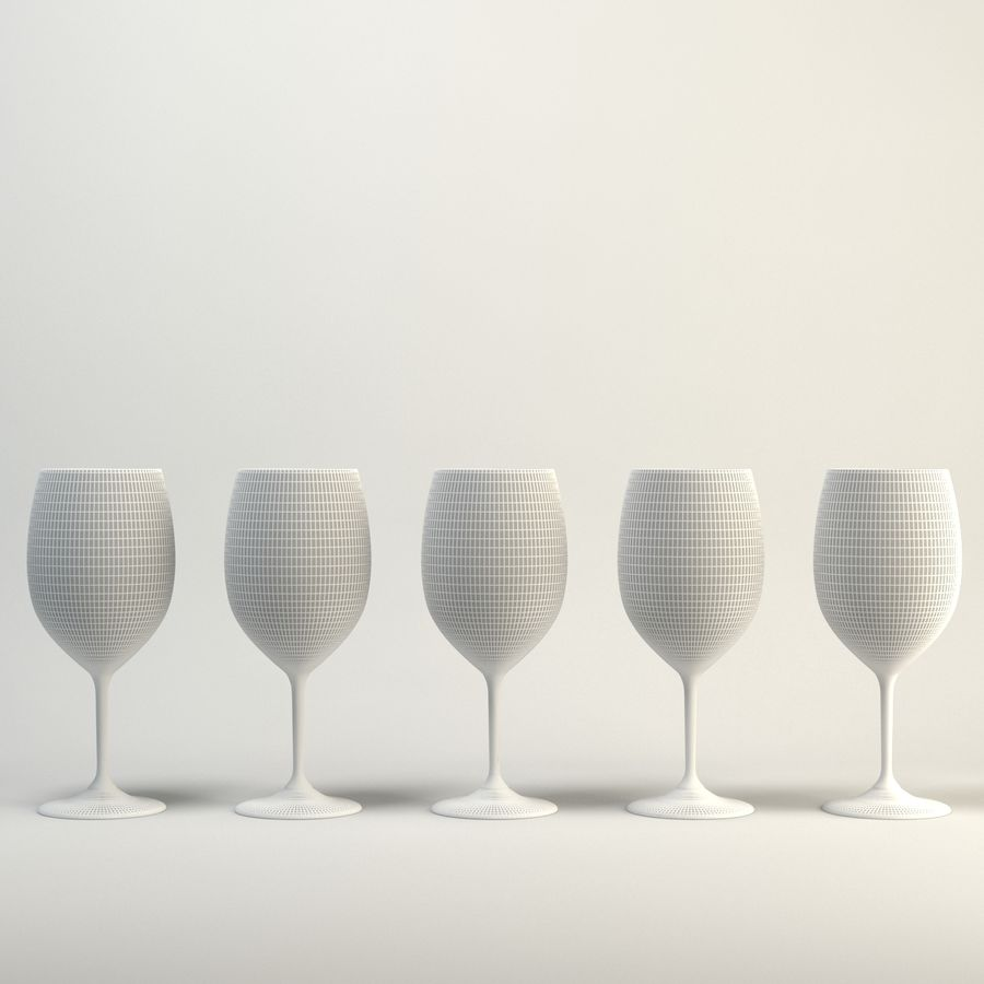 Copo de vinho royalty-free 3d model - Preview no. 2