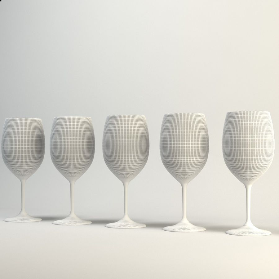 Copo de vinho royalty-free 3d model - Preview no. 4