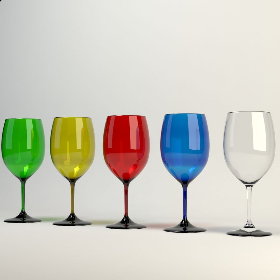 Wine Glass royalty-free 3d model - Preview no. 3