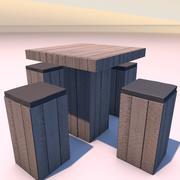 높은 테이블 3d model