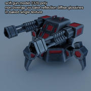 arme à feu scifi 1 3d model