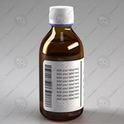 Glasflaska för medicin 3d model