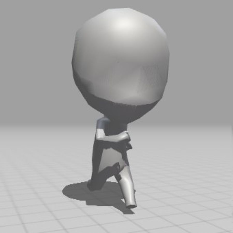 赤壁男 royalty-free 3d model - Preview no. 5