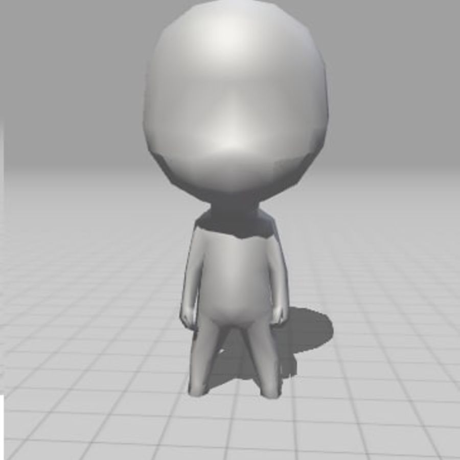赤壁男 royalty-free 3d model - Preview no. 3