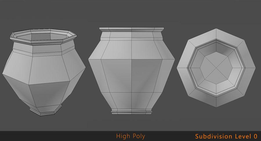 Clay Pot royalty-free 3d model - Preview no. 9