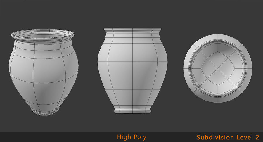 Clay Pot royalty-free 3d model - Preview no. 10
