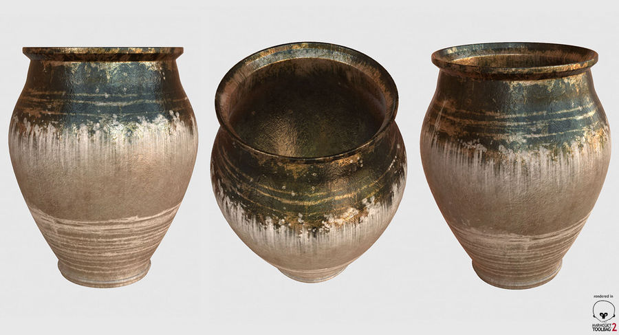 Clay Pot royalty-free 3d model - Preview no. 14