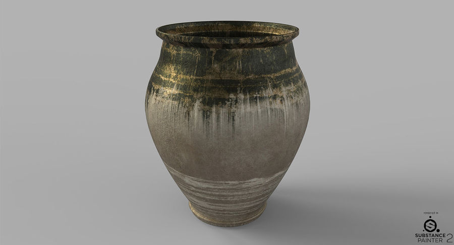 Clay Pot royalty-free 3d model - Preview no. 4