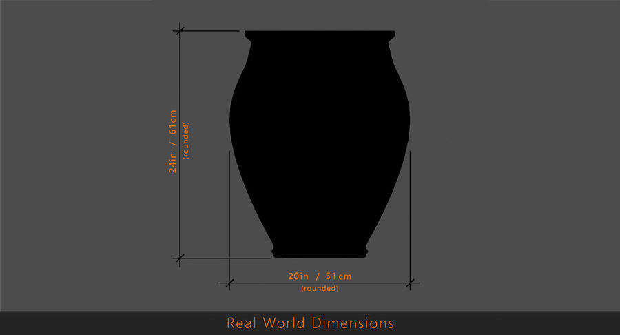 Clay Pot royalty-free 3d model - Preview no. 17
