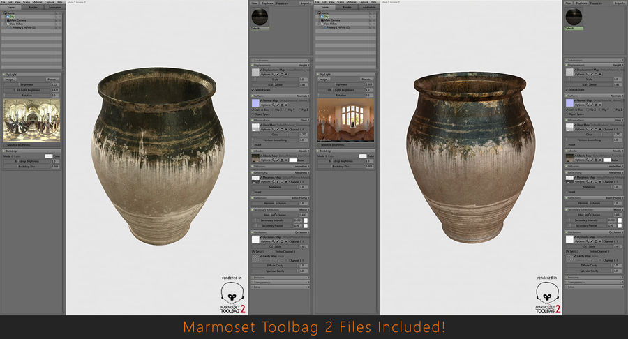 Clay Pot royalty-free 3d model - Preview no. 15