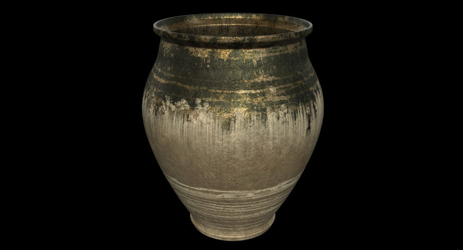 Clay Pot royalty-free 3d model - Preview no. 3