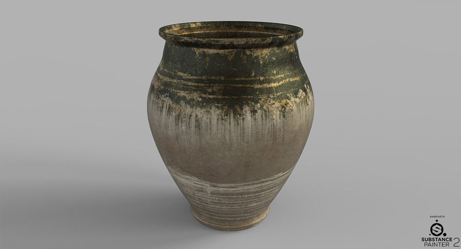 Clay Pot royalty-free 3d model - Preview no. 6