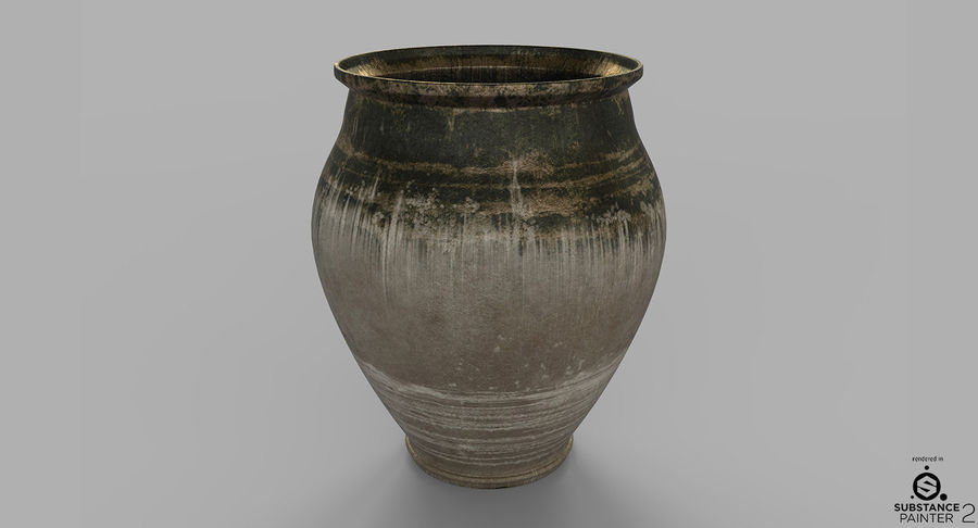 Clay Pot royalty-free 3d model - Preview no. 5
