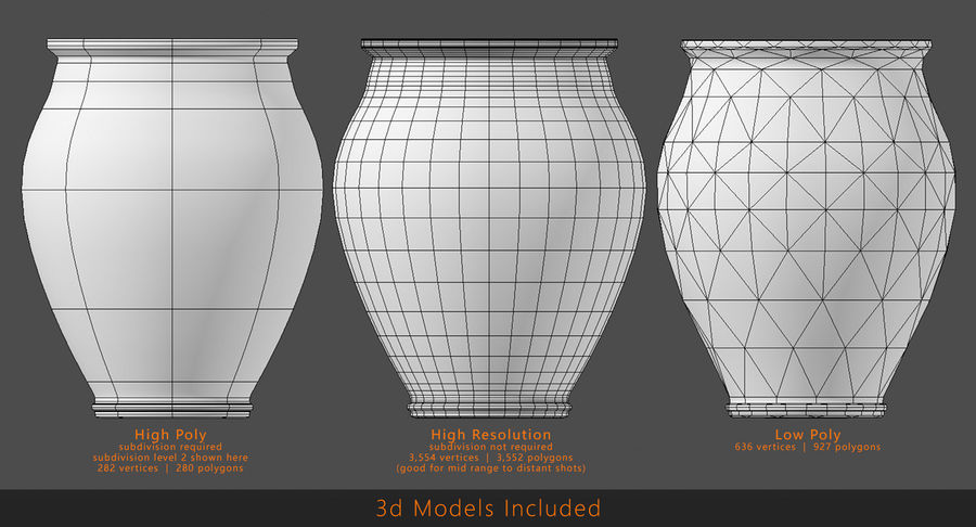 Clay Pot royalty-free 3d model - Preview no. 8