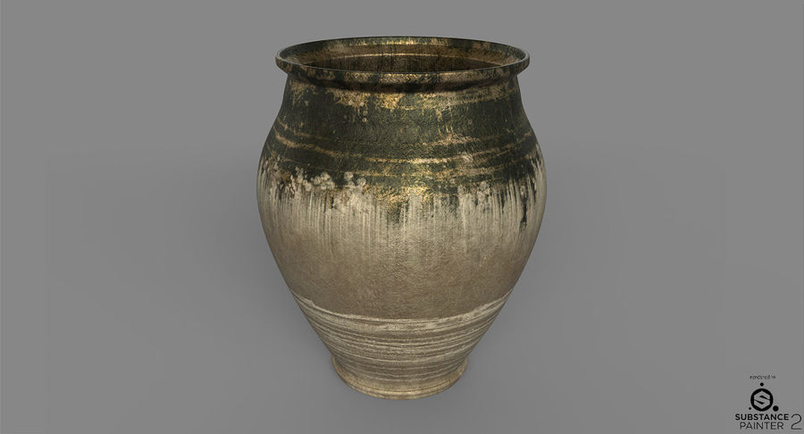 Clay Pot royalty-free 3d model - Preview no. 7