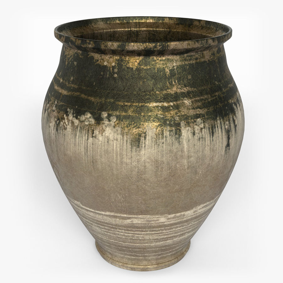Clay Pot royalty-free 3d model - Preview no. 2