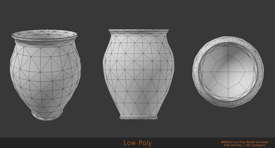 Clay Pot royalty-free 3d model - Preview no. 11