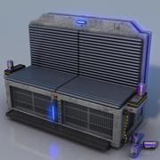 Futuristische bank 3d model