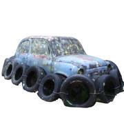 전투 차 3d model