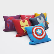 Superhero pillows 3d model
