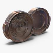 Industrial Anodized End Cap 4 3D Model 3d model