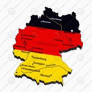 Carte politique de l'Allemagne 3d model