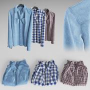 Camisas 3d model