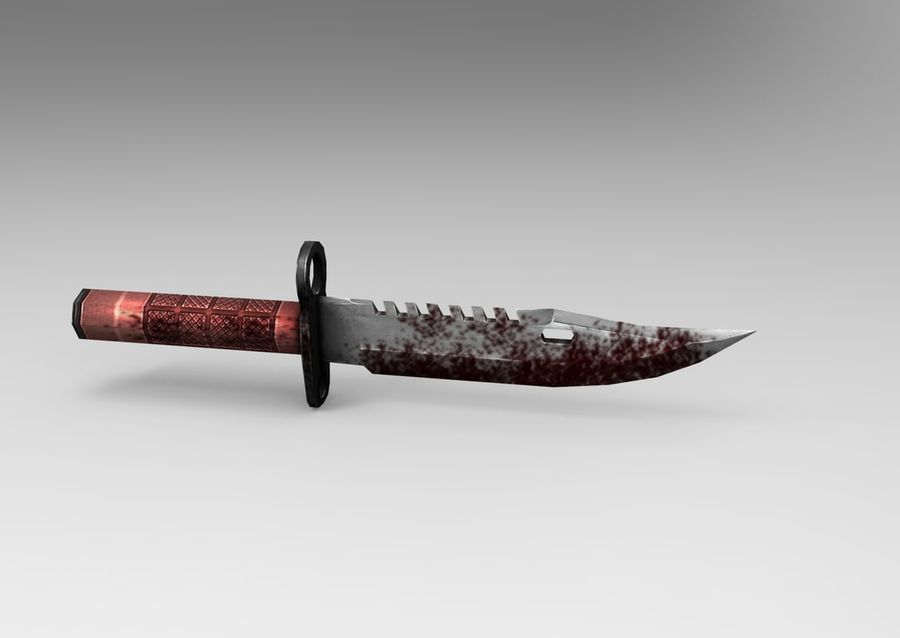 knife low poly game ready royalty-free 3d model - Preview no. 8