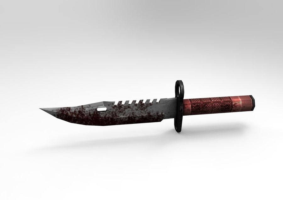 knife low poly game ready royalty-free 3d model - Preview no. 2