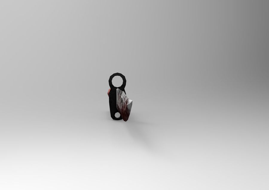 knife low poly game ready royalty-free 3d model - Preview no. 10